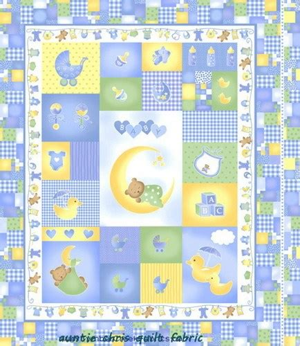 Baby Fabric Panels Quilting by Baby Quilt Fabric Panel Sleepy Time Fabric Boys Blue