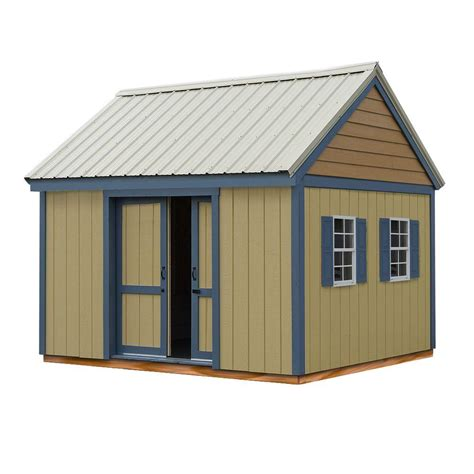 10 X 16 Wood Shed Kit With Floor - best barns cypress 12 ft x 10 ft wood storage shed kit