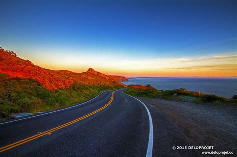 Sunset And Pch - deloprojet sunset from the pacific coast highway california