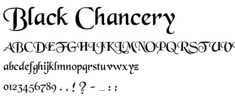 black chancery font gothic various category pickafont com