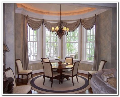 dining room bay window dining room bay window treatments curtains for bay windows
