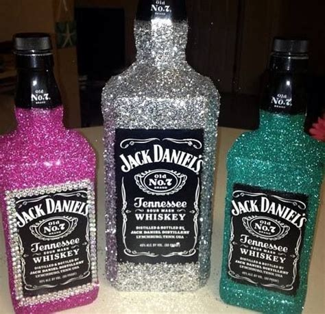 glitter fied and bedazzled bottles