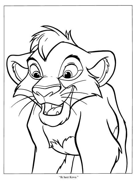 lion king coloring pages kovu free kiara 12 coloring pages