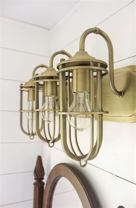 Antique Brass Bathroom Light Fixtures Collection In Antique Brass Bathroom Vanity Lights Brass Vanity Home Lighting Ideas