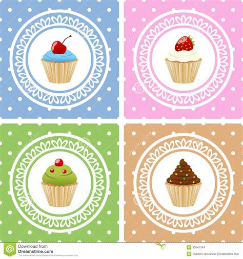 Different Birthday Cards Happy Birthday Cards With Cupcakes Stock Images Image