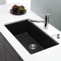 Modern Undermount Kitchen Sinks Kraus 31 Inch Undermount Single Bowl Black Onyx Granite Kitchen Sink Modern Kitchen Sinks