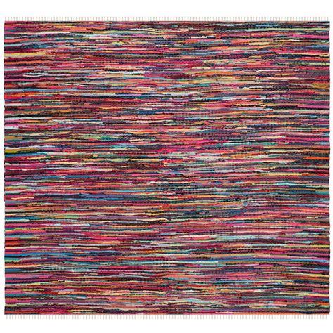 square rag rug safavieh rag rug multi 6 ft x 6 ft square area rug rar128g 6sq the home depot