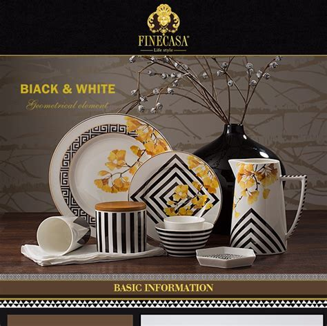 Piring Makan Ceper Gelombang 7 Inch Hitam 10 5 inch desain elegan keramik piring makan dari hitam putih buy product on alibaba