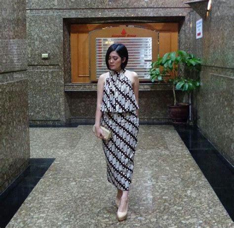 dress batik cantik kawung parang dress batik mtif parang batik songket dan tenun