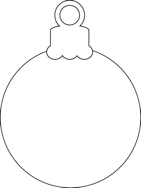 blank christmas ornament coloring page