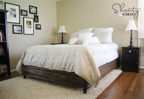diy queen size platform bed easy to build diy platform bed designs