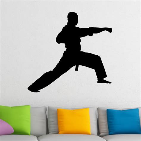 Bedroom Karate Lyrics Martial Arts Punch Karate Kung Fu Wall Sticker World Of