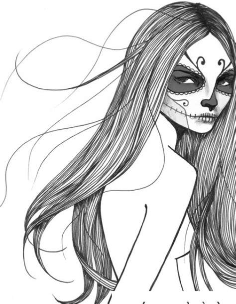 dibujo de muerte con capucha para colorear dibujos net dibujo de chica con cara pintada de la muerte para pintar