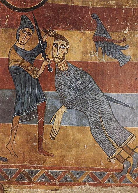 Englische David 1123 by Romanesque Mural Paintings Half Of The 12th Century