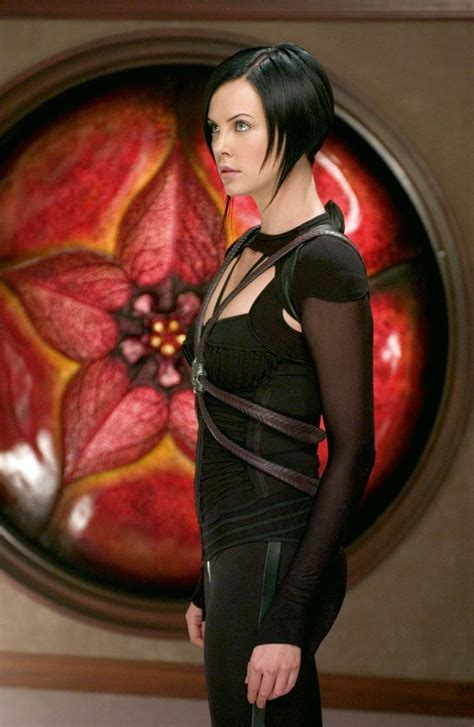 edgy haircuts charlize theron in aeon flux c is for costumes charlize theron as aeon flux