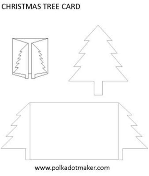 card template 4 cuts placement tree card template set a easy