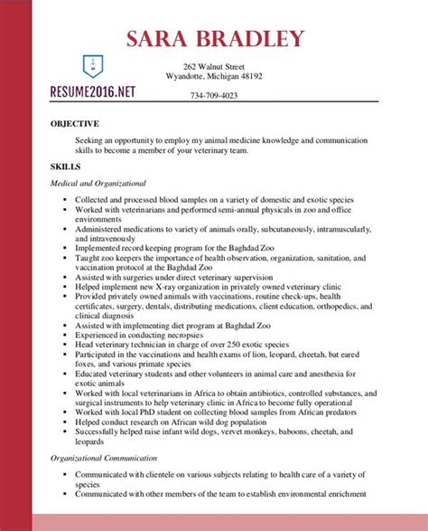 12 veterinary technician resume samples riez sample resumes riez