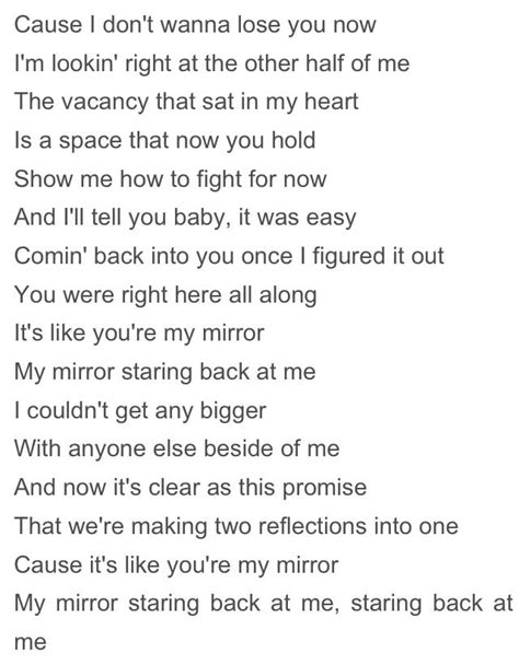 "Lyrics to ""Mirrors"" by Justin Timberlake 