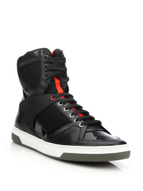 hugo high top sneakers trasto high top sneakers in black for lyst