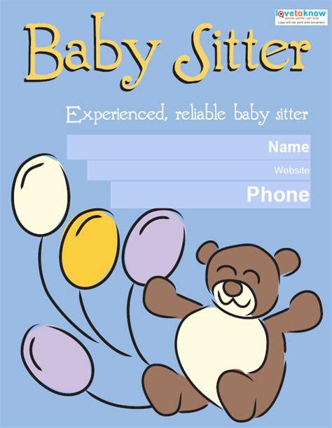 printable babysitting flyers
