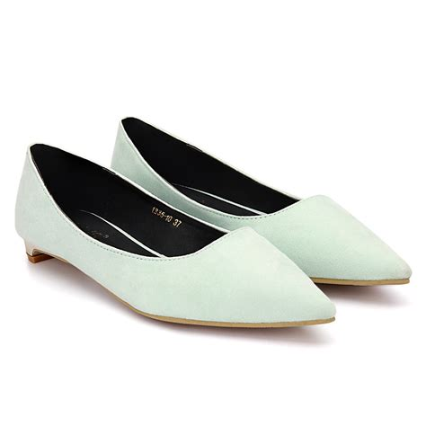 light green flat shoes light green suede pointed toe flat shoes us 27 95 yoins
