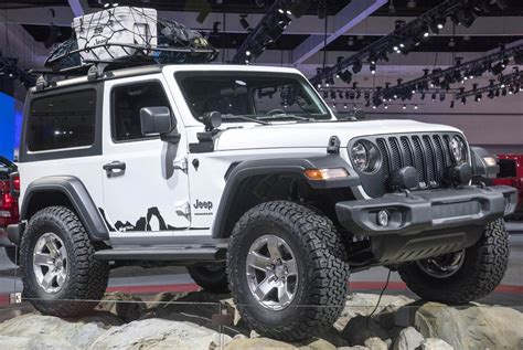 mopar customized 2018 jeep wrangler pair steals the show