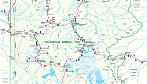 yellowstone park map yellowstone map official yellowstone national park map map of yellowstone
