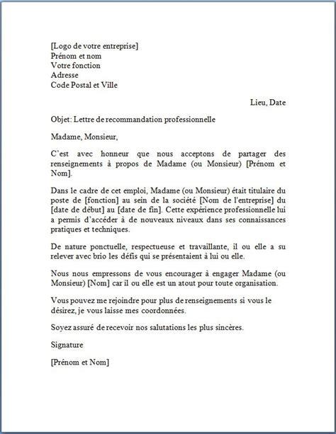 Lettre De Presentation En Francais modele courrier word gratuit modele de lettre de