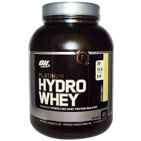 Whey Optimum Nutrition Optimum Nutrition Platinum Hydro Whey Vanilla 3 5 Lbs