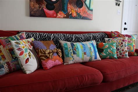 Couch Accent Pillows With Red Sofa Decor Kitchentoday