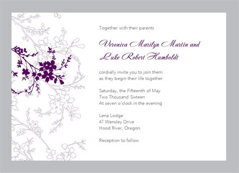Wedding Invitations Free by Floral Wedding Invitation