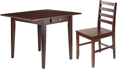 kingsgate walnut dining room set from winsomewood hamilton antique walnut double drop leaf dining room set