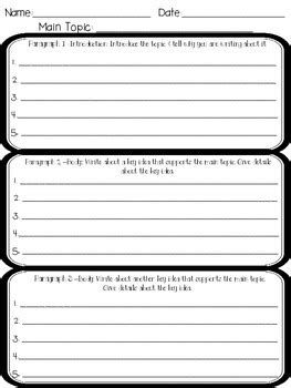 Graphic Organizers For Writing Expository Essays by Paragraph Graphic Organizer For Expository Writing By Fit For Firsties