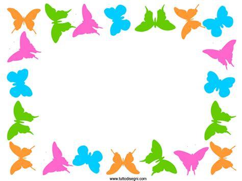 cornici colorate cornicetta colorata con farfalle tuttodisegni