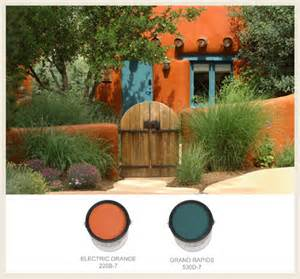 southwest paint colors colorfully behr southwestern style adobe homes
