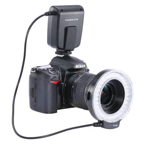 flash camara canon free shipping fc100 led macro ring flash for canon dslr