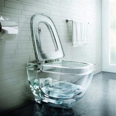 A glass toilet bowl polar light