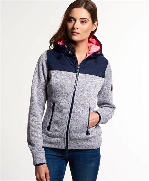 Hoodie Zipper Hijau Fuji Size M new womens superdry fuji polar zip hoodie blue blizzard grit