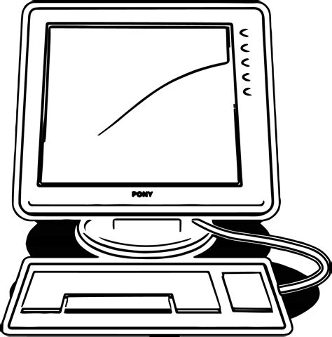 computer coloring pages desktop computer coloring page wecoloringpage
