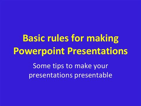 powerpoint tutorial basic basic rules powerpoint