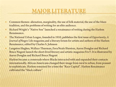 themes of literature during the harlem renaissance the harlem renaissance