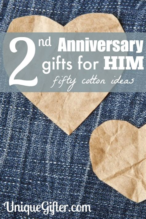 Wedding Anniversary Gift Cotton Ideas by 2nd Wedding Anniversary Gift Ideas For Him Cotton