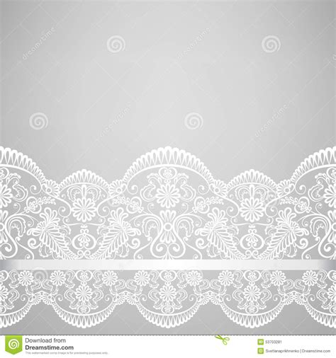 Wedding Dress Lace Border by Lace Border Stock Vector Image 53703281