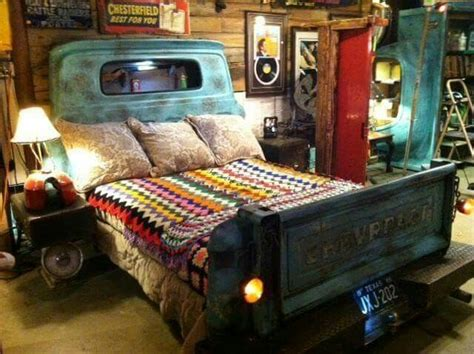 truck bedroom ideas repurposed truck parts headboard and footboard for bed vivacious vehicles