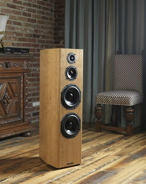 Home Theater Fidelity bryston middle t floor standing speakers front side view floor standing speakers