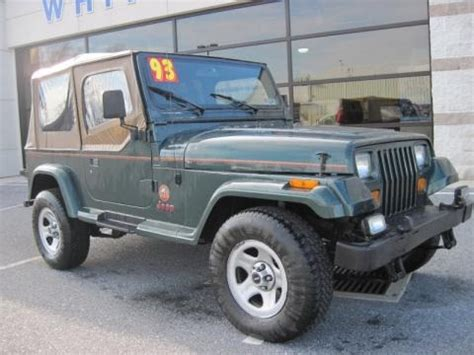 1993 Jeep Value 1993 Jeep Wrangler 4x4 Data Info And Specs