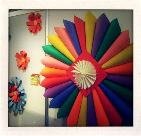 How To Make Colored Paper Flowers - paper flowers library displays