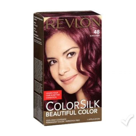 revlon hair color reviews revlon color silk burgundy hair color 48 revlon hair