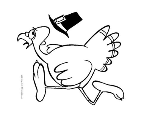 running turkey coloring page thanksgiving coloring pages