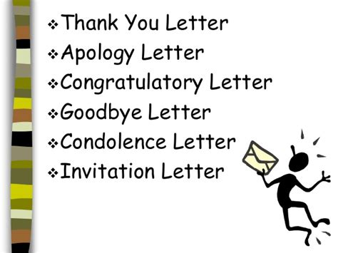 different kinds of letter different types of letter